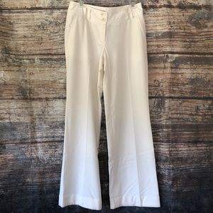 Michael Kors off white cuffed dress pants